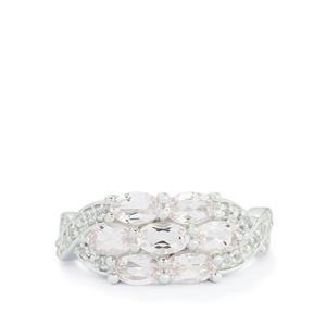 Zambezia Morganite & White Topaz Sterling Silver Ring ATGW 1.61cts