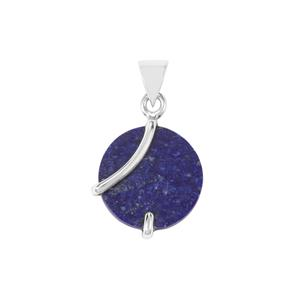Sar-i-Sang Lapis Lazuli Pendant in Sterling Silver 13cts