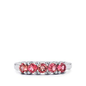 0.65ct Pink Tourmaline Sterling Silver Ring