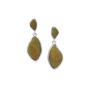 Imperial Chalcedony Earrings in Sterling Silver 7.78cts