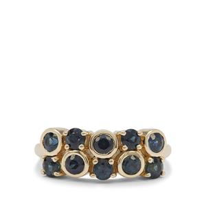 Australian Blue Sapphire Ring in 9K Gold 1.30cts