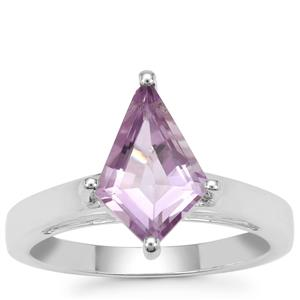 Rose De France Amethyst Ring in Sterling Silver 2.50cts