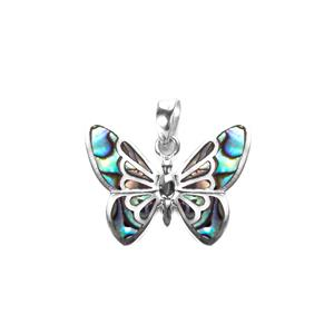 Paua Butterfly Pendant  in Sterling Silver