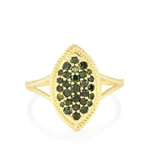 Green Diamond Ring in 10K Gold 0.51ct