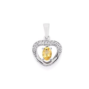 Ouro Preto Imperial Topaz Pendant with White Topaz in Sterling Silver 0.99cts