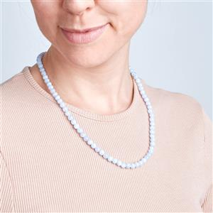 Blue Lace Agate Slider Necklace in Sterling Silver 115.50cts
