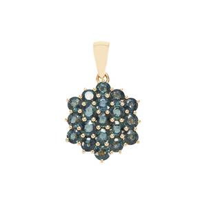 Nigerian Blue Sapphire Pendant in 9K Gold 2.81cts