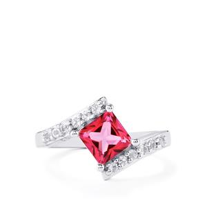 1.50ct Mystic Pink & White Topaz Sterling Silver Ring