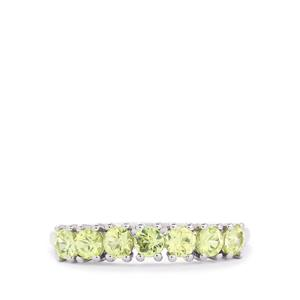 0.93ct Brazilian Chrysoberyl 10K White Gold Ring