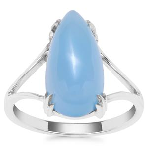 Blue Chalcedony Ring in Sterling Silver 5.47cts