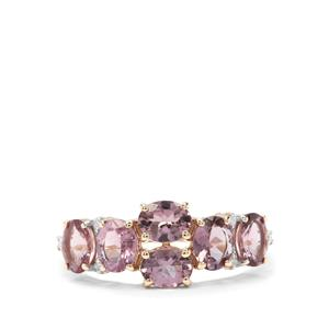 Mahenge Purple Spinel & Diamond 9K Gold Ring ATGW 2.04cts
