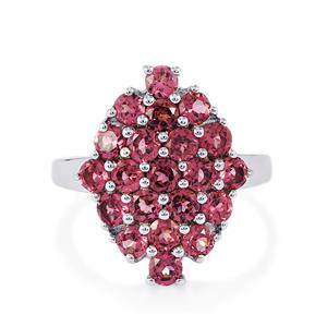 3.08ct Rajasthan Garnet Sterling Silver Ring