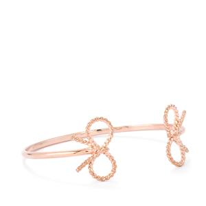 Oval Cuff Bangle in Rose Gold Plated Sterling Silver