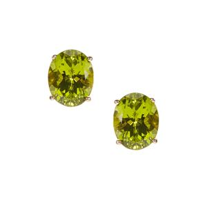 Red Dragon Peridot Earrings in 9K Gold 5.29cts