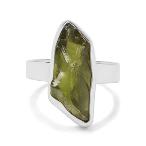 7.85ct Suppatt Peridot Sterling Silver Aryonna Ring