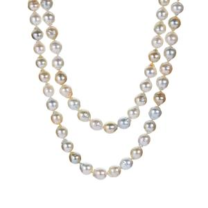 South Sea Cultured Pearl Sterling Silver Necklace (8.5mm)