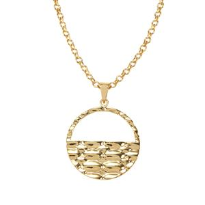 Pendant Necklace in Gold Plated Sterling Silver