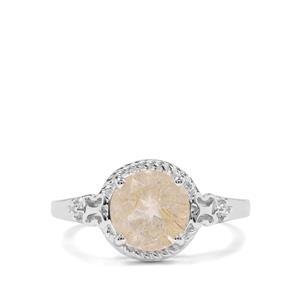 Bahia Rutilite & White Zircon Sterling Silver Ring ATGW 2.28cts