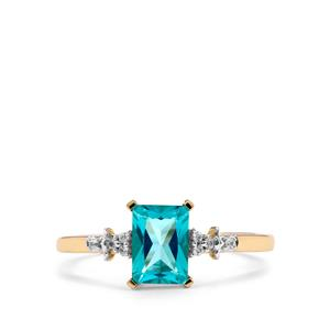 Batalha Topaz Ring with White Zircon in 9K Gold 1.23cts