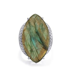 Labradorite Ring  in Sterling Silver 23.06cts