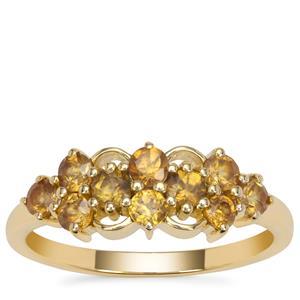 Morafeno Sphene Ring in 9K Gold 0.95ct