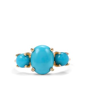 3.17ct Sleeping Beauty Turquoise 10K Gold Ring