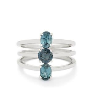 1.73ct Orissa Kyanite Sterling Silver Set of 3 Rings