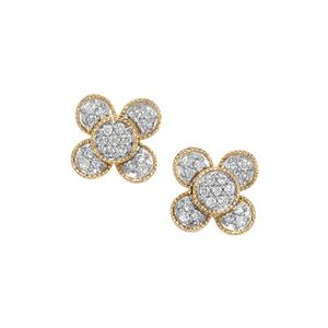 Argyle Diamond Earrings in 10K Gold 0.51ct