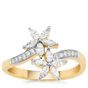 Diamond Ring in 18K Gold 0.50cts