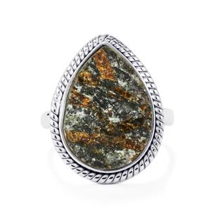 Astrophyllite Drusy Ring in Sterling Silver 11cts