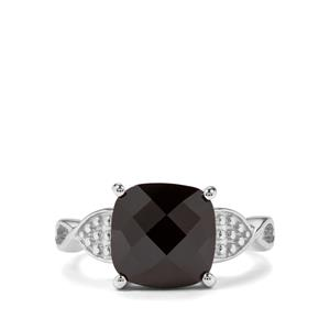 4.80ct Black Spinel Sterling Silver Ring