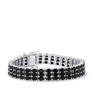 34.27ct Black Spinel Sterling Silver Bracelet