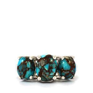 4.31ct Egyptian Turquoise Sterling Silver Ring