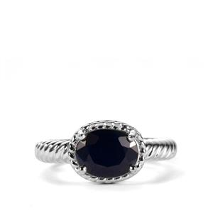 Madagascan Blue Sapphire Ring in Sterling Silver 2.52cts