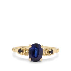 Nilamani Ring with Ceylon Blue Sapphire in 9K Gold 1.73cts