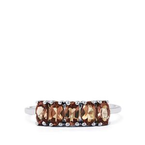 1.30ct Bekily Colour Change Garnet 9K White Gold Ring