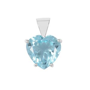 11.50ct Sky Blue Topaz Sterling Silver Aryonna Pendant