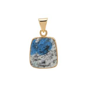 K2 Jasper Pendant in Gold Plated Sterling Silver 14.20cts