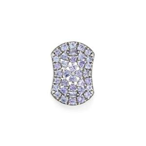 AA Tanzanite Pendant with White Zircon in Sterling Silver 3.65cts