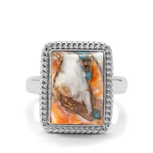 Oyster Turquoise Ring in Sterling Silver 7.18cts