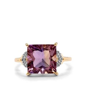 Anahi Ametrine & Diamond 10K Gold Ring ATGW 4.22cts