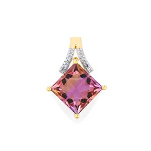 Anahi Ametrine Pendant with Diamond in 9K Gold 4.61cts