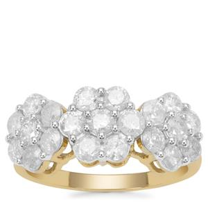 Diamond Ring in 9K Gold 1.70cts