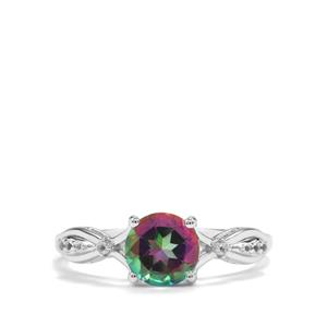 Mystic Topaz Ring with White Topaz in Sterling Silver 1.60cts