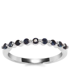 Blue Sapphire Ring in Sterling Silver 0.39ct