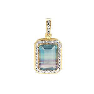 Zebra Fluorite Pendant in Gold Plated Sterling Silver 8.85cts