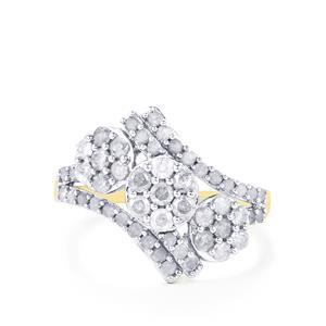 Diamond Ring in 10k Gold 1ct