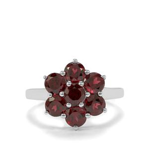 3.27ct Rhodolite Garnet Sterling Silver Ring