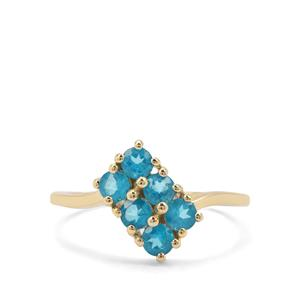 0.86ct Neon Apatite 9K Gold Ring