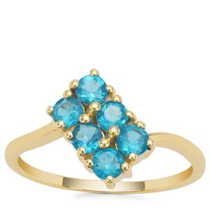 Neon Apatite Ring in 9K Gold 0.86ct